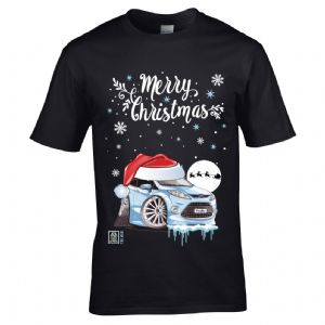 Premium Koolart Christmas Santa Hat Design & Mk7 Fiesta car gift mens t-shirt top